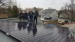The EDGE Team with Solar Panels